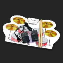 Key electronic drum | USB drum | silicone material with drumsticks | with Software