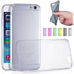 Unique 4.7 Inch Ultra-Thin 0.3mm Clear Rubber Soft TPU Back Cover Case For iPhone 6 4.7 Inch Snow