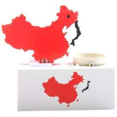 Limited Edition patriotic map of map of China piggy banks/banking