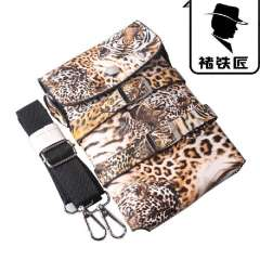 Free shipping Hairdressing scissors bag Leopard print scissors kit professional barber's toolkit, free ship, 913 SMITH CHU