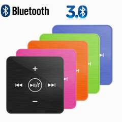 Clip-on design 2.4G Bluetooth V3.0 + EDR Headset Headset bluetooth music receiver with Mic for iPhone iPad Smartphone Samsung