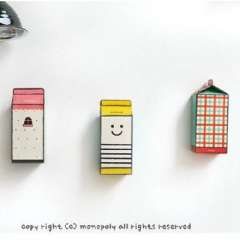 Korean DIY paper card milk cartons piggy bank | Random Color