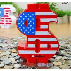 Creative currency symbol dollar piggy bank / piggy bank