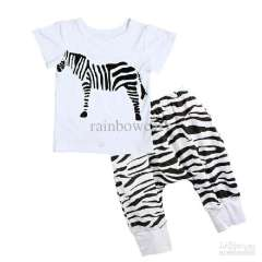 Wholesale - - Hot Sale Children boy&girl zebra clothing 5 size cool baby's T-shirt