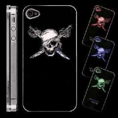 Skull | LED flash | calls induction Phone Case for iPhone4 / 4S