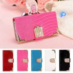 Bling Wallet Luxury PU Leather Dirt-resistant Magnetic Flip Cover Phone Cases For iPhone 4G Drop Shipping