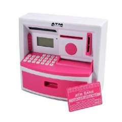 Creative large real voice ATM Cash Deposit Machine / ATM - Pink