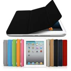 For iPad Mini Folding Cover Magnetic Leather Case with Sleep\Wake Function Hard Shell w\stand Multi-Color Free shipping