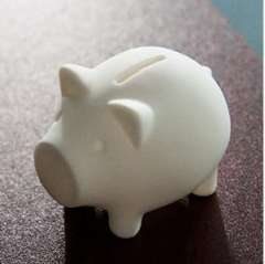 The simplest concept of environmental protection, the most interesting lifestyle Penny Piggy Bank piggy bank / five hog environmental savings of public