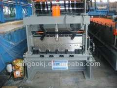 5.5KW glazed roofing tile roll forming machine with automatic stacker