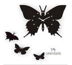4 Butterflies DIY Art Designs Wall Clock