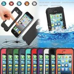 Newest Multi Colors Waterproof Phone Cover Shockproof Dirt Water Proof Durable Case For Apple iPhone 5 5S