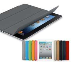 New Folding Smart Covers Slim Magnetic Leather Case Wake\Sleep Cases Multi-Color Protective Shell for iPad 2\3\4 Free Shipping