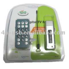 USB2.0 DVB-T Stick receiver Watch and record digital terrestrial TV on Laptop\PC Support HDTV