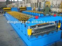Steel corrugated roll forming machine.
