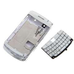 Phone Accessories | New | Assembly Phone | Blackberry 9700 | replacement housing | Full shell plating | silver