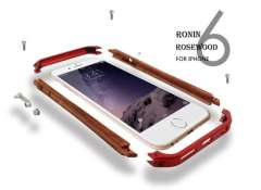 2014 New 4.7' For iPhone 6 NEW Wood+Metal Aluminum Alloy Frame Phone Bumper Mobile Phone Cover Case