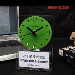 Acrylic reverse time frame clock