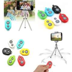 New Arrival 6 Color Wireless Bluetooth Camera Remote Control Self-timer Shutter For Mobile Phone and Tablet