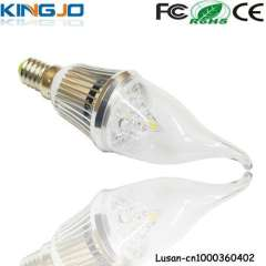 AC85-265V 3*1W E14 led candles with real flame