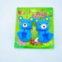 Cartoon toothbrush holder / toothbrush holder wall suction / 2 installed | Blue Bear