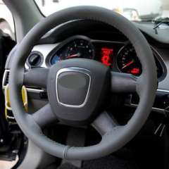 Steering wheel cover | Leather Wang | hand-stitched steering wheel cover | Car Grips