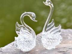 Love swan crystal glass products | Jushi
