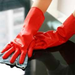 Cleaning Dishwashing Gloves Natural Latex Household Gloves L Red