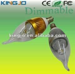AC85-265V dimmable e14\e12led chandelier light with CE, ROHS, FCC certificates