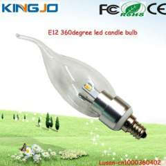 6pcs 5630smd e12 3w led candle lamp