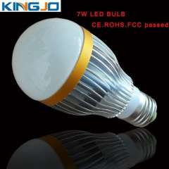 Competitive price ac85-265v E27 7W LED bulb