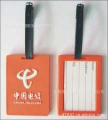 Wholesale supply of refined cartoon Silicone PVC luggage tag, luggage tag animal cartoon writing