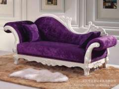 Special offers modern European neo-classical fabric sofa | Solid carved living room double chaise sofa | Lazy Chair