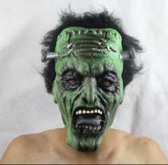 Halloween masquerade party mask performance bar / variability green face mask zombie