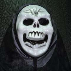 Face mask | Halloween / Party / dance / performance / party / protest | Horror Skull devil - White