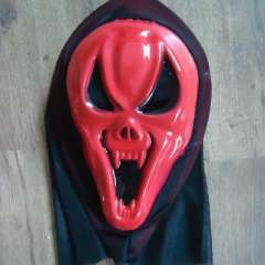 Scream mask centipede | Halloween / Party / dance / performance / party / protest | Horror skull face - red