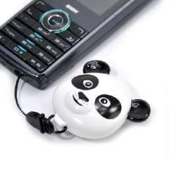 Panda retractable lanyard cell phone chain / key ring / pendant