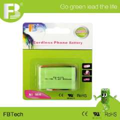 3.6V P101 rechargeable Ni-MH cordless phone battery