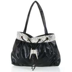 Black H Buckle four rope bag
