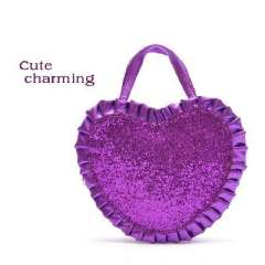 Cheap hot - | Purple Heart sequins flounced women small bag / admission package