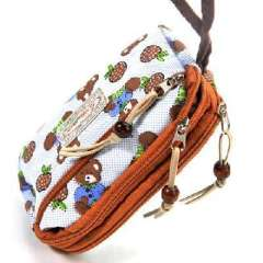 Korean Floral three zipper purse / phone package | Color Random