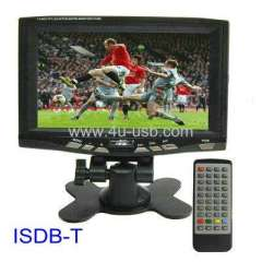 ISDB-T 7' Portable LCD TV (for Japan \ South America)
