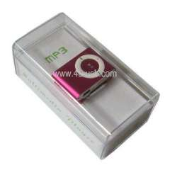 Gift TF (Micro SD) Card Slot Cheap MP3 Player with Metal Clip