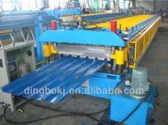 double layer steel roof sheet roll forming machine