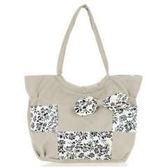 Light grey t flower pattern bow package