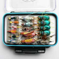 Free Shipping dry and wet fly lures with fly box trout lures different varieties fly fishing bait fake lure