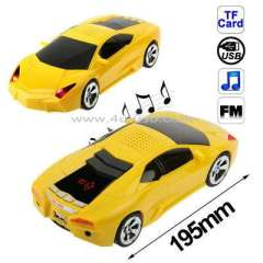 Mini Music Lamborghini Roadster LCD Screen Display Speaker, Support FM Radio\TF