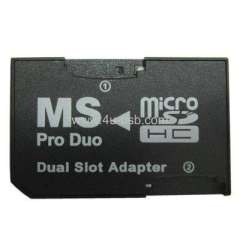 CR-5400 Dual Slot micro SDHC to MS PRO Duo Adapter
