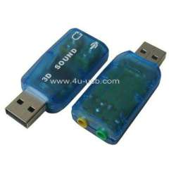 USB 2.0 3D Sound Card Audio Adapter