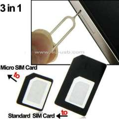 2 in 1 Nano SIM Card adapter+Sim Card Tray Holder Eject Pin Key Tool for iPhone 5
